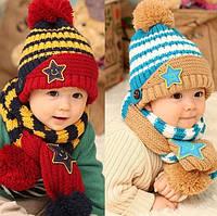 Комплект шапочка и шарфик «Звезда»
