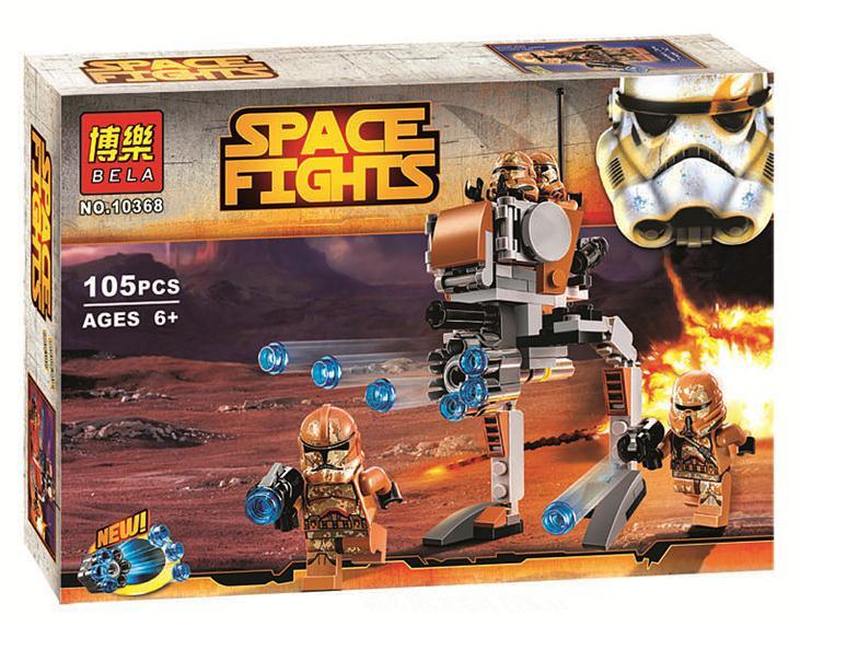 Конструктор Bela 10368 аналог LEGO Star Wars Пехотинцы планеты Джеонозис 105 деталей