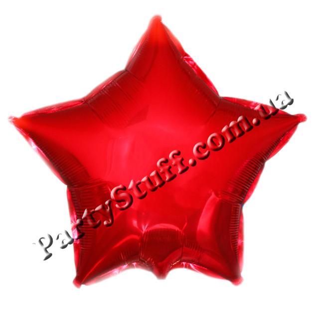 красный шарик звезда фольгированный