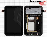 Дисплей + сенсорный экран (touchscreen) для Lenovo IdeaTab A3000, с рамкой, оригинал