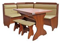 Кухонный уголок Кардинал (стол+диван+2 табурета)