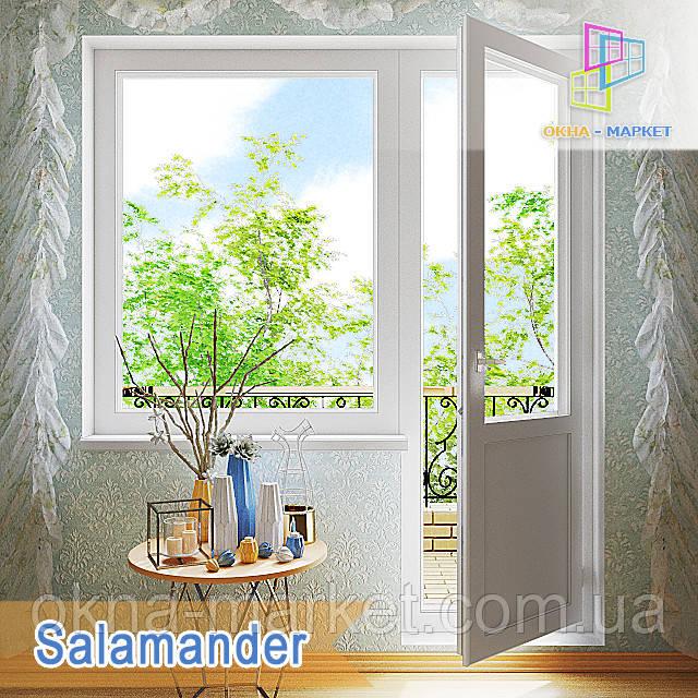 """Балконний блок Salamander Euro 2D 1800x2100 """"Окна Маркет"""""""