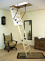 Чердачная лестница «Oman» Termo с поручнем + насадки ПВХ