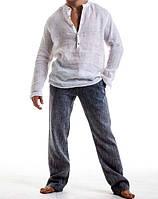 Рубашка мужская лен, фото 1