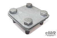 Зажим крестовый CROSS для полосы,  нержавеющая сталь