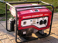 Бензиновый генератор 2,2 кВа, Honda GX160, 4,04 кВт/5,5 к.с., бак 16 л, вес 45 кг. DaiShin SGB3001Ha.