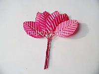 Листочки тканинні рожеві 3*5 см