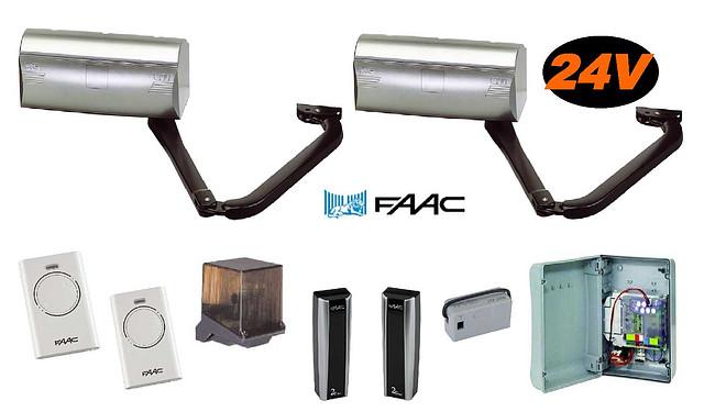 Комплект електромеханічних важільних приводів для розпашних воріт побутового застосування 390