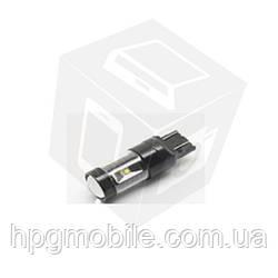 LED лампа тормоза UP-7G-T20DWB-30W (7443), (белая, 12-24 В)