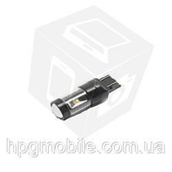LED лампа тормоза/заднего хода UP-7G-T20SWB-30W (7440), (белая, 12-24 В)