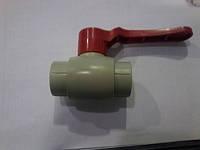 Кран полипропиленовый 63 для горячей воды Blue Oucean