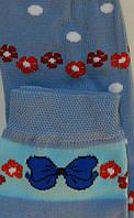 Комплект для девочек: лосины, носки (цвет голубой), рост 110-116 см, фото 1