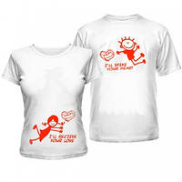Парные футболки для влюбленных Футбол для Двоих