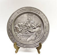 Тарелка коллекционная, олово, Германия, Eduard von Grutzner, фото 1