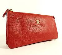 Клатч-кошелек женский красный Chanel 009