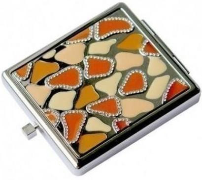 Стильное карманное зеркальце Jardin D'ete 98-0433 серебристый