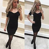 Бандажное черное платье (арт. 234319942)