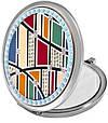 Необычное карманное зеркальце Jardin D'ete 98-0435 серебристый, фото 2
