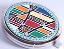 Необычное карманное зеркальце Jardin D'ete 98-0435 серебристый
