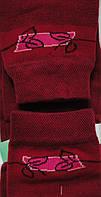 Комплект для дівчаток: футболки, шкарпетки (колір бордо), ріст 122-128 см, фото 1