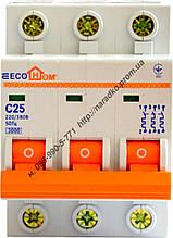 Автоматичний вимикач ECO 3p С 10A ECOHOME