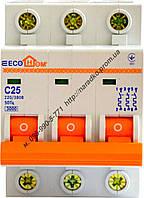 Автоматический выключатель ECOHOME ECO 3p 16A
