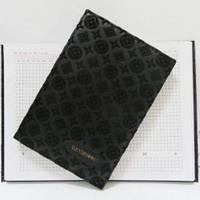 "Ежедневник  недатированный А5 клетка, ""Louis Vuitton бархат"", 3842F"