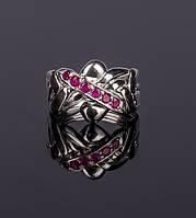 Серебярное кольцо головоломка с рубином от Wickerring