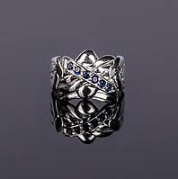 Серебряное кольцо головоломка с синими сапфирами от Wickerring