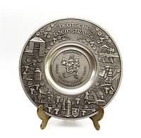 Тарелка коллекционная, олово, Германия, Deutsche Weinstraße