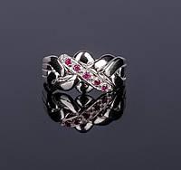 Серебряное кольцо головоломка с Рубином от Wickerring