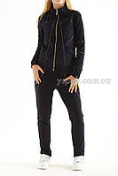 Комфортный спортивный костюм из двунитки со стразами.