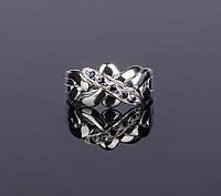 Серебряное кольцо головоломка с синим Топазом от Wickerring, фото 1