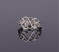 Элегантное серебряное кольцо головоломка от Wickerring, фото 1