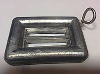 Грузы для подводной рыбалки 1 кг плоские с кольцом