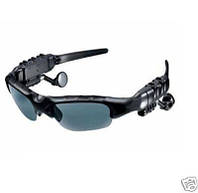 Солнцезащитные шпионские Bluetooth MP3 очки со встроенной Bluetooth гарнитурой, MP3 плеером с памятью 2Gb