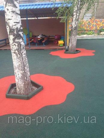 Бесшовные резиновые покрытия для двора и дачи, фото 2
