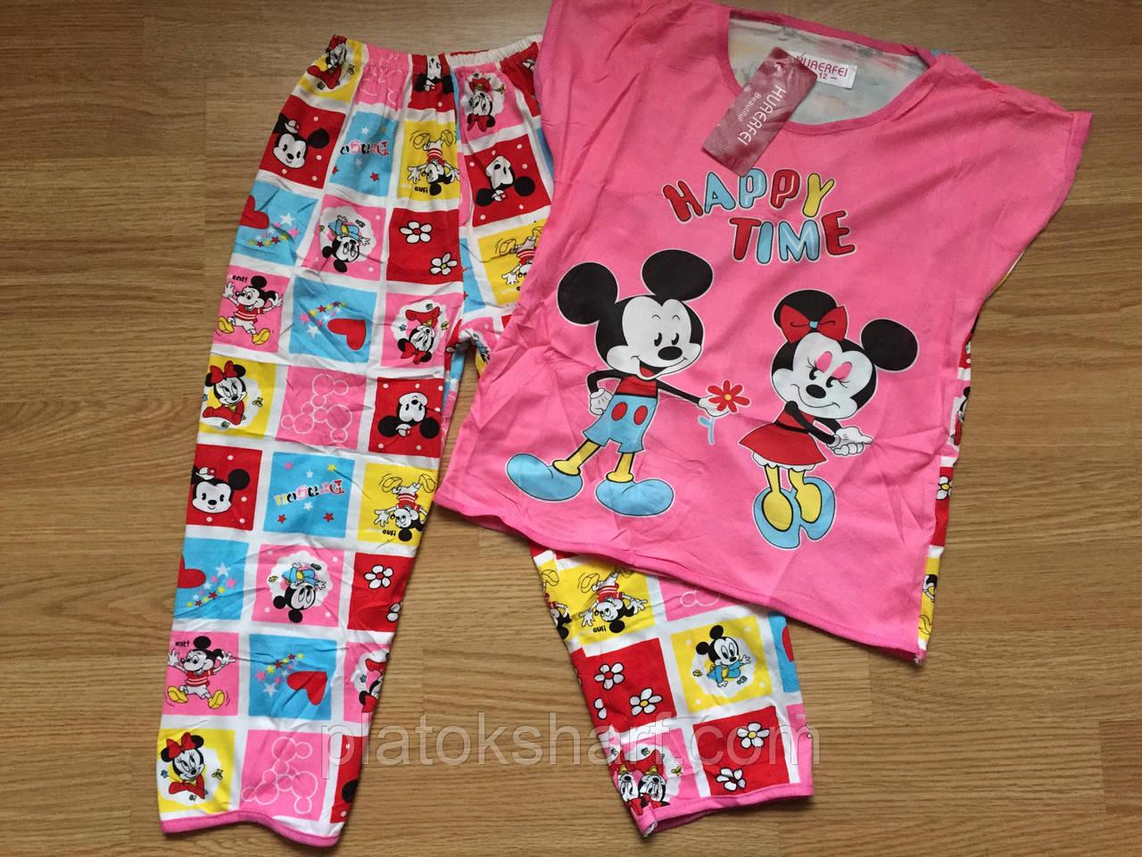 Пижамы для девочек 4-9 лет