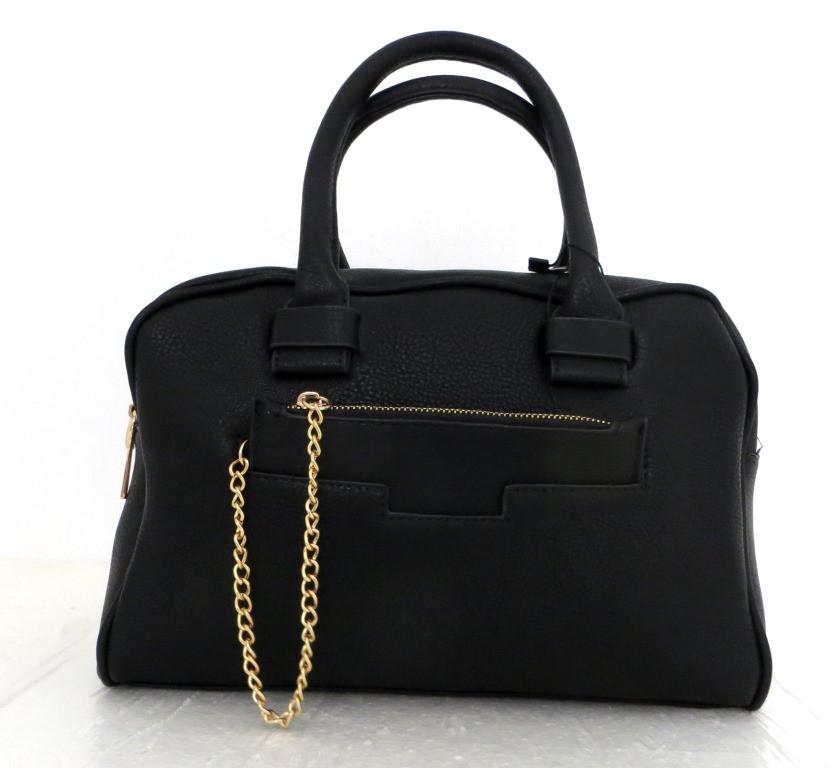 Стильная вместительная женская сумка Эко-кожа. Черная