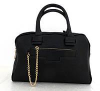 Стильная вместительная женская сумка Эко-кожа. Черная, фото 1