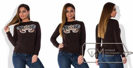 Кофта женская с бабочкой, фото 2