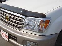 Хром накладки на передние фары на Тойота L\C 100 с 2005> (хром пластик) Китай.