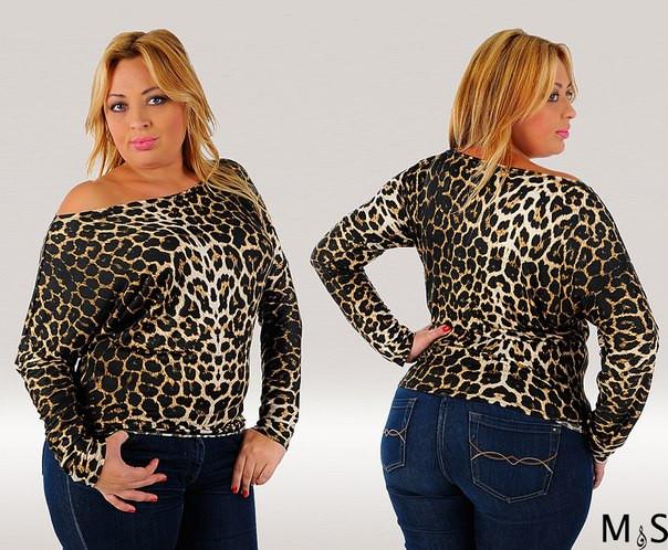Кофта женская леопардовая