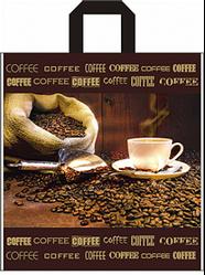Пакет петля 40*43 кофе