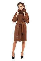 Пальто женское зимнее с мехои  M-147-31-Z-M Коричневый