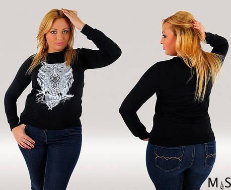 Кофта женская с совой, фото 2