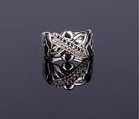 Серебряное кольцо с Сапфирами и Бриллиантами от Wickerring, фото 1