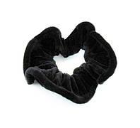 Резинка для волос велюр черная с кантом-12 шт.- Ø 7,0 см.* Ø 12,0 см.