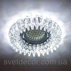 Точечный светильник z-light 087(аналог feron 2540) c led подсветкой (стекло)