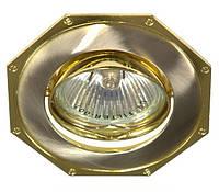 Точечный встраиваемый светильник Feron 305T MR16 титан золото